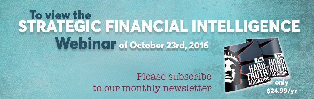 subscribe to view the finance webinar of October 23, 2016