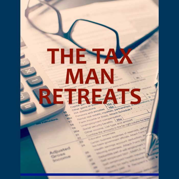 December newsletter cover The Tax Man Retreats